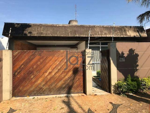 Ótima Casa Com 3 Dormitórios À Venda, 200 M² Por R$ 640.000 - Jardim Paraíso - Campinas/sp - Ca6682