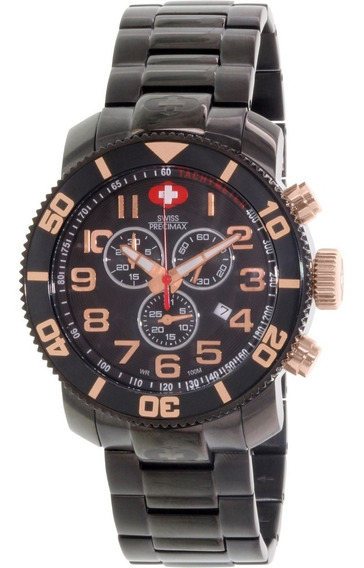 Relógio Swiss Precimax Masculino Sp13043 Verto Pro Blackdial