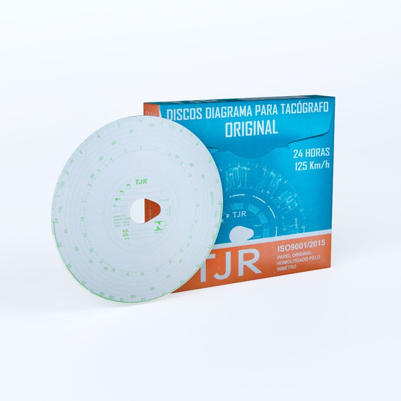 Disco Para Tacógrafo 24h Tjr - 60 Caixas Com 100 Discos Cada