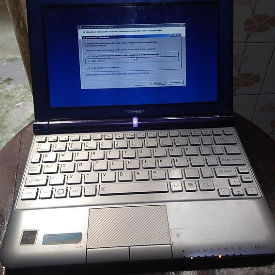 Netbook Toshiba Nb305 - Com Defeito No Teclado - Bateria Ok