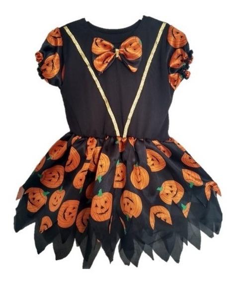 Fantasia Infantil Halloween Desenho Abóbora Dia Das Bruxas