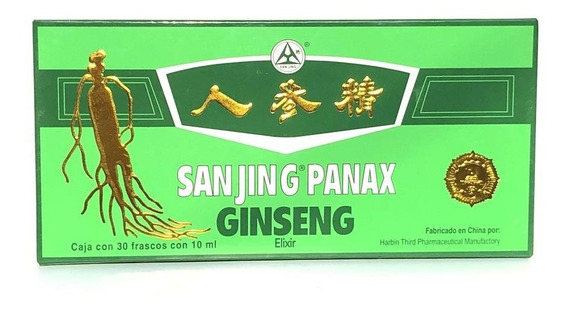 Ginseng Panax 30 Frascos De 10 Ml Sanjing.