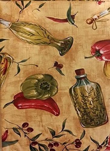 Imagen 1 de 4 de Paños De Tela De Franela De Vinilo Con Temas Toscanos - Tom