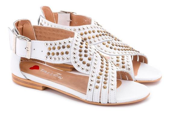 Sandalias Mujer Tachas Moda 100%cuero Art: Alenka De Tallon