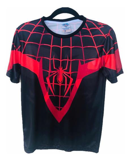 Camiseta Uniforme Spiser-man Miles Morales 3d
