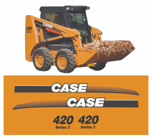 Kit Adesivo Mini Carregadeira Case 420 Série 3 + Etiqueta Mk