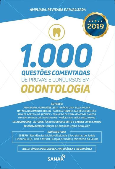 Livro 1.000 Questões Comentadas Provas E Concursos Em Odonto