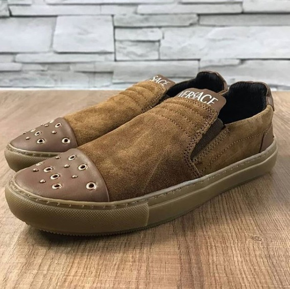 Casual Moda Slip On Versace Calçe Facil Shoes Barato