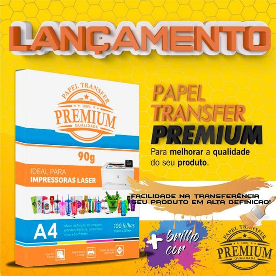 Papel Transfer Laser Rígido 90 Gramas Premium - 100 Folhas O Melhor!
