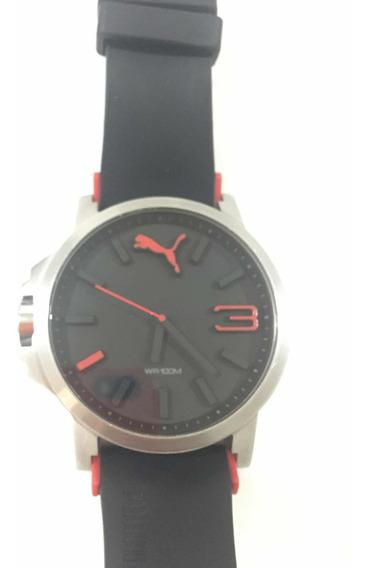 Reloj Puma Para Hombre Color Negro/rojo Modelo: Pu102941003