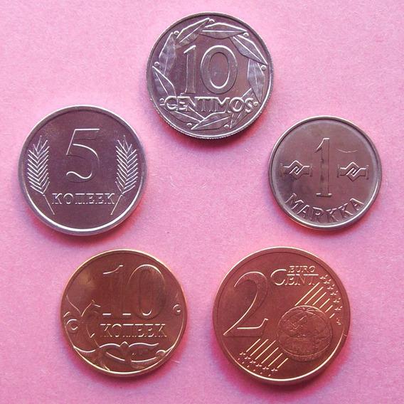 Europa - Lote 5 Monedas Surtidas ¡ Nuevas - Sin Circular !