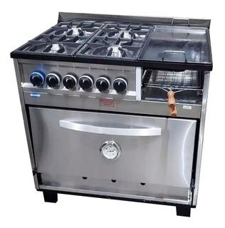 Cocina Tecnocalor 4 H + Plancha Tostador 86 Cm Industrial