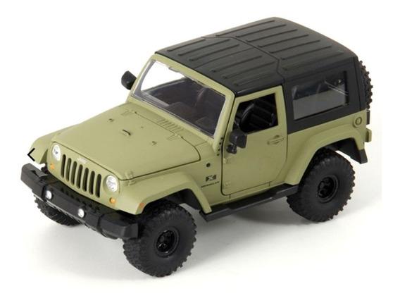 Miniatura Jeep Wrangler 2007 Verde Jada Toys 1/24