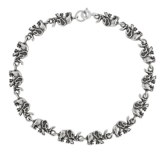 Pulseira De Prata 925 Bali Elefantes