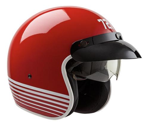 Imagen 1 de 1 de Casco para moto abierto Hawk 721  rojo colors talle S