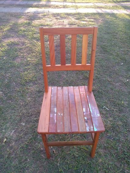 Cadeira De Madeira De Demolição - Peroba