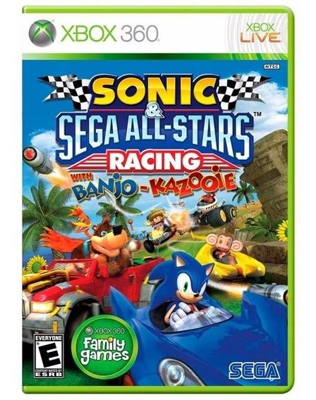 Sonic Sega All Stars Racing Banjo Xbox 360 Fisica Lacrado Nf
