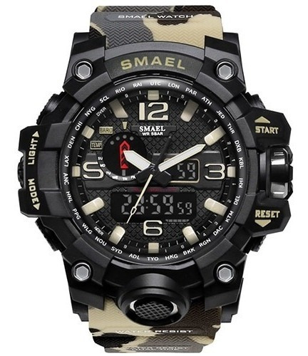 Relojes Militar Smael 1545shock Táctico 50m Camuflaje