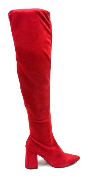 Botas Bucaneras De Mujer Elastizadas Moda Caña Alta Hot Rimini