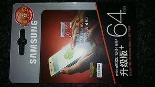 Original Samsung Microsd 64gb Classe 10 (pronta Entrega)
