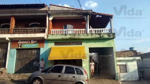 Casa Sobrado C/ Salão À Venda Em Jardim Roberto  -  Osasco - 36284