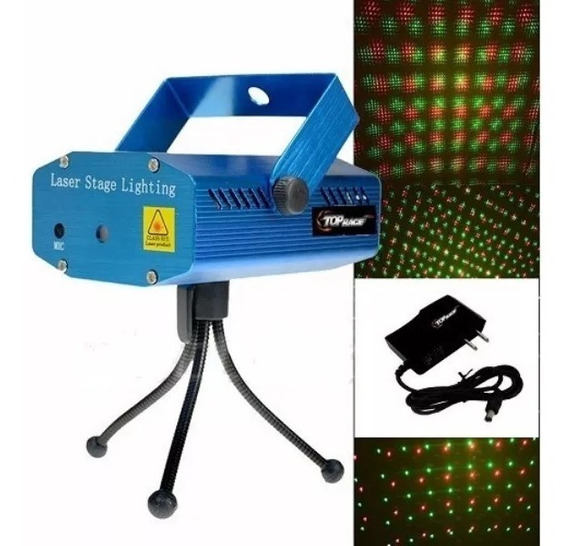 Luz Laser Bicolor Multipuntos Audioritmico Strobo Auto /e