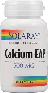 Calcium Eap Aep 500mg - 60 Cápsulas - Solaray Pronta Entrega