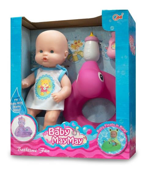 Baby May May Hora Del Baño Muñeca Bebote 30 Cm Ck 0283 Full