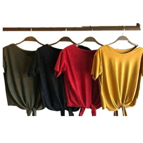 C/4 Camiseta Camisa Feminina Suede Tshirt Blusas Promocao