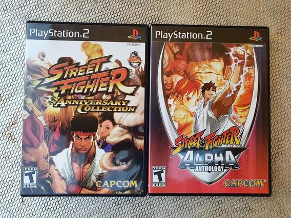 Street Fighter Alpha Anthology E Anniversary Ps2 Originais