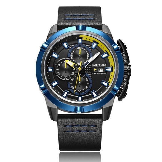 Megir Esporte Moda Relógios Homens 3atm Água Resistente Quar