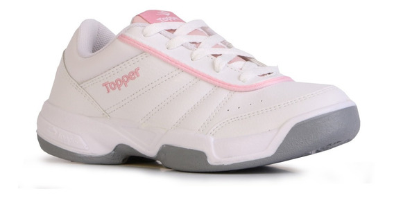Zapatillas Tenis Topper Lady Tie Break 3 Mujer Blanco Rosa