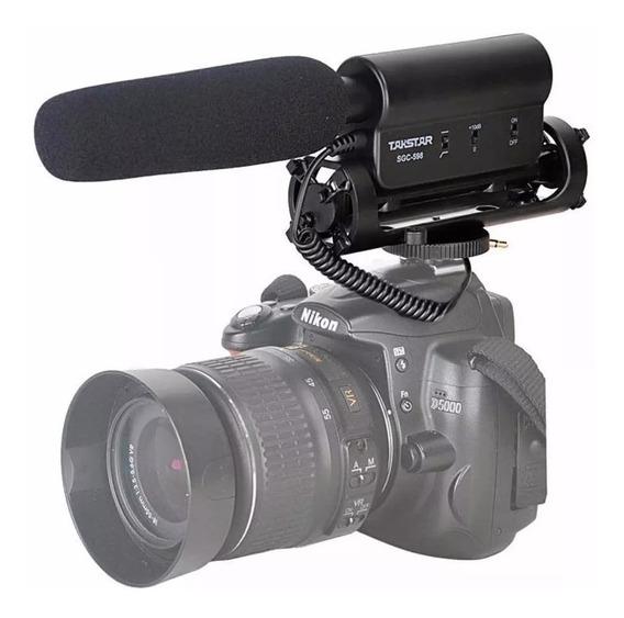 Microfone Takstar Sgc 598 Para Nikon Canon Sony Pentax
