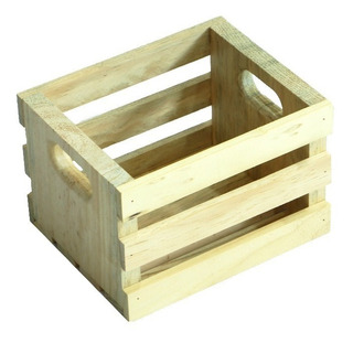 10 Huacales Caja De Madera Rustico Decorativo Pequeño