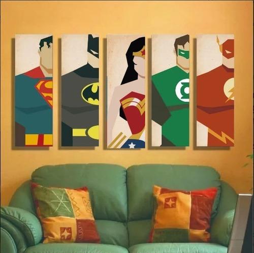 Imagen 1 de 3 de Nuevo! Set Cuadros Vintage Superheroes Superman Batman