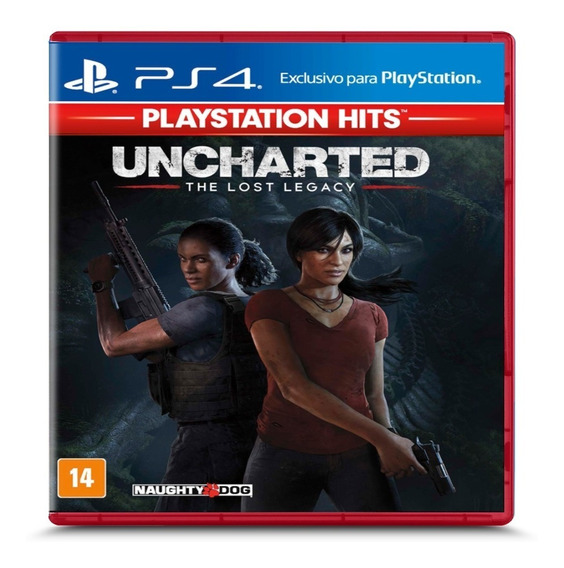 Uncharted The Lost Legacy Hits - Ps4 - Midia Fisica Lacrado