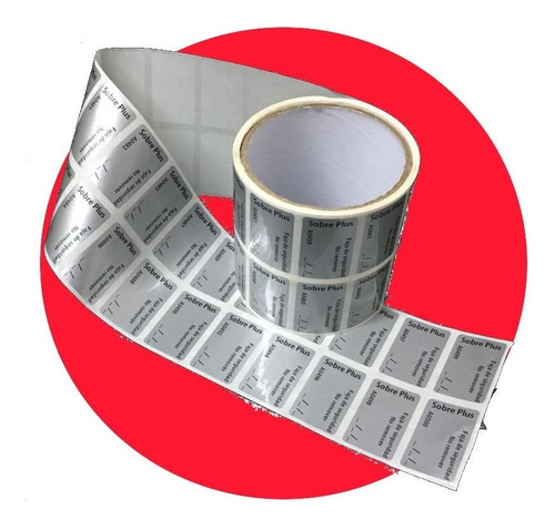 Imagen 1 de 6 de Etiquetas De Cierre Inviolable X 500 U. De 46mm X20mm