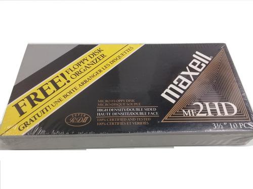 10 Diskettes Marca Maxell Con Organizador Incluido