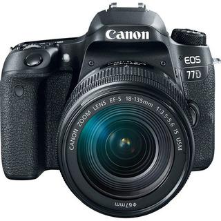 Camara Canon Eos 77d Dslr Lente 18-135mm Usm Nuevo Garantia!