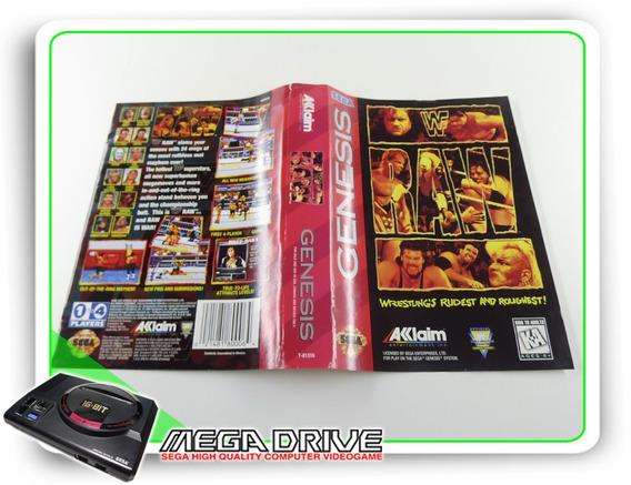 Encarte Wwf Raw Original Sega Mega Drive