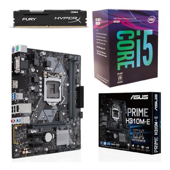 Kit Intel 8ª Geração I5 8400 + H310m-e + 8gb 2400mhz C/nfe