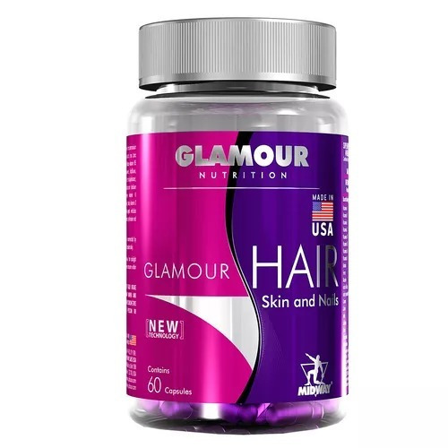 Hair Skin And Nails Glamour Usa 60 Cápsulas - Midway