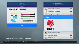 [ Unicos ] Parche Copa Movistar Liga 1 Pes 2019 Ps4 Y Ps3