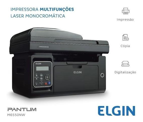 Impressora Laser Monocromática Elgin Pantum 6550nw Wi-fi