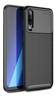 Capa Fibra Carbono Samsung Galaxy A50 Novo+pelicula 3d Vidro