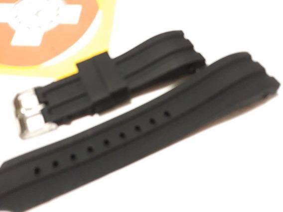 Pulseira Silicone Preta 24mm - Curvo - Tommy Festina Fossil