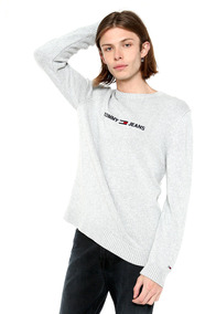 Sueter Tjm Small Logo Sweater - Tommy Jeans - 1219740 - Gris