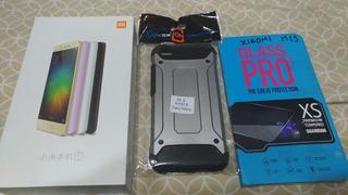 Xiaomi Mi5 Negro Case Y Templado Seminuevo Dualsim Liberado