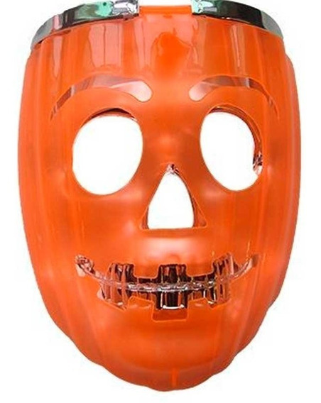 Mascara Led Calabaza Y Calavera Luminosa Halloween Fdd