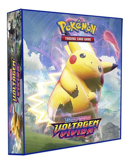 Pasta Álbum Tipo Fichário Pokémon + 10 Folhas